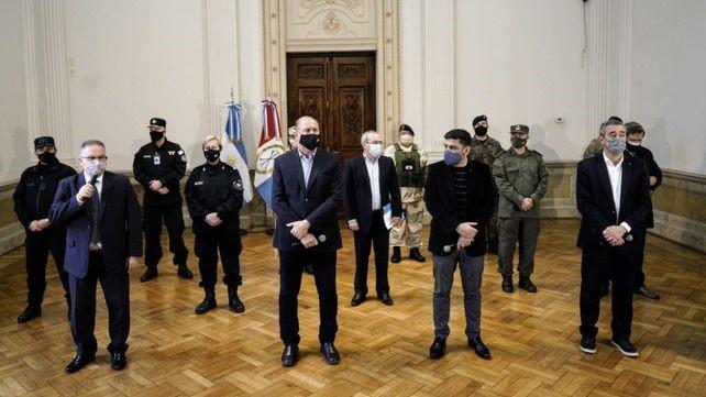 Más federales a la ciudad: Perotti y Javkin se reúnen con representantes de fuerzas de seguridad